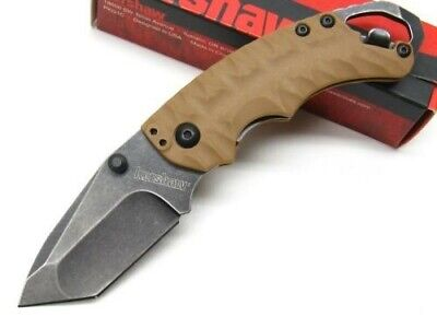 KERSHAW Tan SHUFFLE II 2 Folding BLACKWASH Pocket Knife + Opener! 8750TTANBW