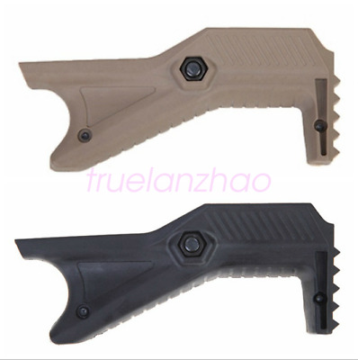 2Pcs Hand Guard Cobra Tactical Angled Fore Grip for Picatinny Rails Polymer