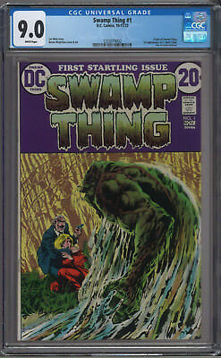 Swamp Thing #1 CGC 9.0 White Pages Origin of Swamp Thing
