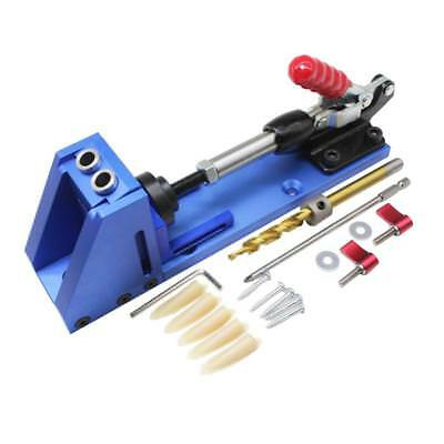 Portable Adjustable Pocket Hole Jig Drill Guide Woodworking Tool Joinery System