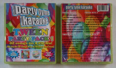 Party Tyme Karaoke - Tween Party Pack 1 USA 4CD+G Box 2014