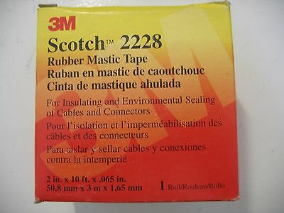 """2"""" Scotch 3M 2228 Rubber Mastic Tape 2 in x 10 ft 65 Mil Weatherseal"""