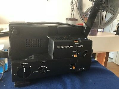 Vintage Chinon 3000 GL Cine Projector And Instruction Manual