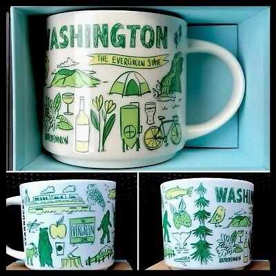 NEW Starbucks Been There Washington Mug Replacing You Are Here YAH coffee cup