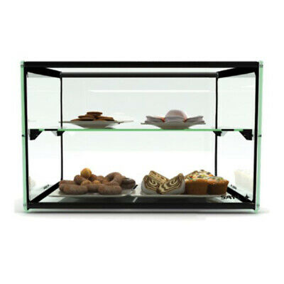 Ambient Display Two Tier Tempered Glass 550x375x390mm Muffin Cake Biscuit