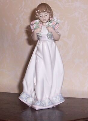 1987 Lladro Figurine 7603 Spring Bouquets Collectors Society-Retired - Orig.$495