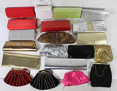 Lot of 20 Evening Bags Wholesale Mixed Designer