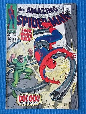 Amazing Spider-Man # 53 - (Vf-) - Dr Octopus -Peter Parker/gwen Stacy 1St Date
