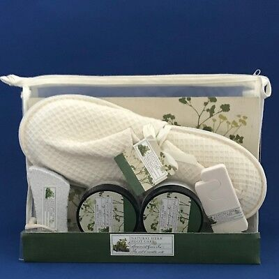NIP 5 Piece Foot Care Gift Set - Natural Herb Spearmint Green Tea -- FINAL SALE