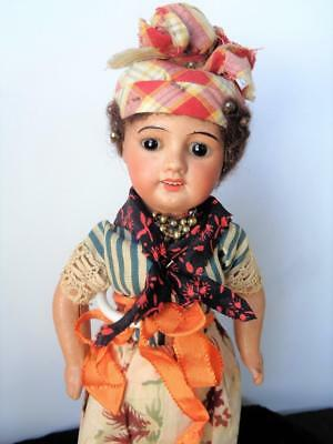 "13"" Antique UNIS France 60 Black Brown Bisque Doll French 71 149 SFBJ from Haiti"