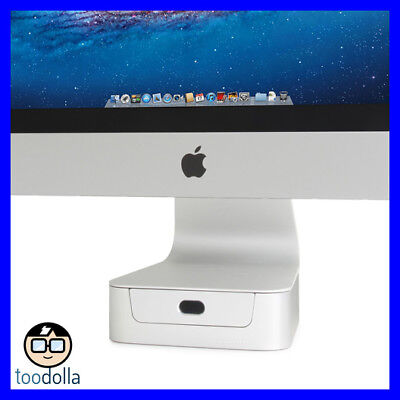 RAIN DESIGN mBase Aluminium desktop stand with integrated drawer, Apple iMac 27""