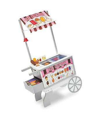 Melissa And Doug Wooden Snacks And Sweets Food Cart 40 Piece