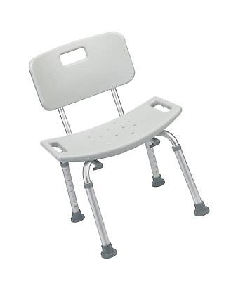 Awesome Bathroom Safety Shower Tub Bench Chair With Back, Grey
