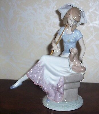 Lladro #7612 Picture Perfect Lady With Parasol Collestors  Society 1985-1990