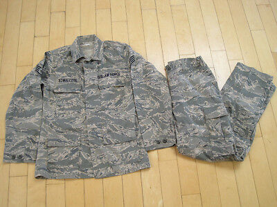 USAF US AIR FORCE camo UNIFORM camouflage 36 JACKET 32 PANTS military USA MEDIUM