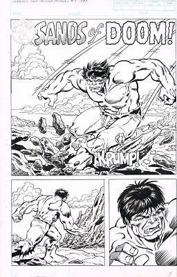 Marvel Two In One Annual Splash Recreation! Hulk By Alan Kupperberg! 1980's
