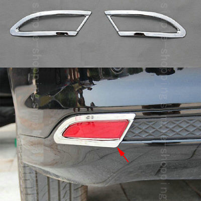 2pcs Chrome Rear Tail Fog Light Lamp Cover Trim For Ford Focus Hatchback 11-12