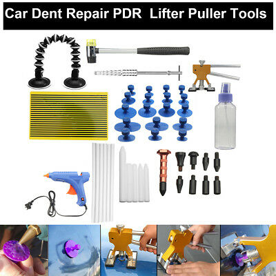 51PCS Paintless Dent Repair Tools Push Rods Hail Puller Lifter Hammer Tail pdr