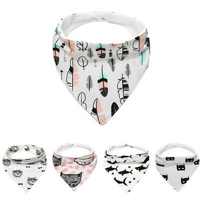 Kids Baby Cotton Waterproof Bandana Bibs Feeding Saliva Towel Dribble Triangle