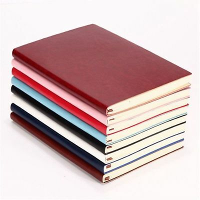 Color Random Soft Cover PU Leather Notebook Writing Journal 100 Page Line D4U1