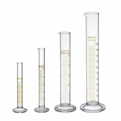 Thick Glass Graduated Measuring Cylinder Set 5ml 10ml 50ml 100ml Glass with J0B7