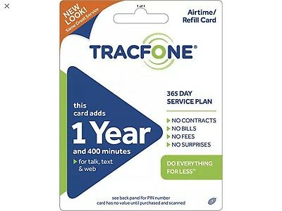 TRACFONE $99.99 Refill 1 Year 800 Minutes
