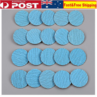 "20 X 2"" 50mm Roloc Quick Change Sanding Discs Abrasive 40, 60 grit for All Metal"