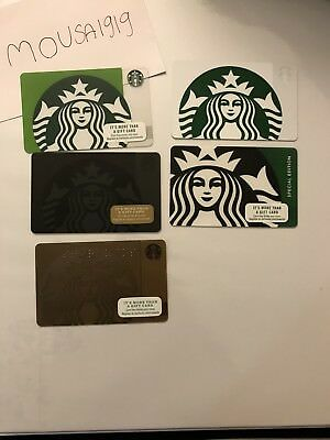 5 NEW STARBUCKS LOGO GIFT CARDS LOT GREETING CARD No value