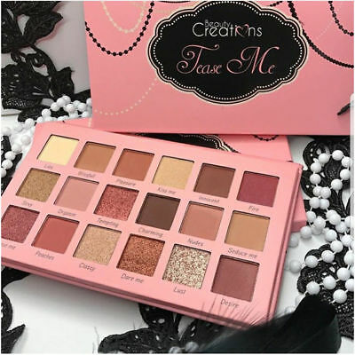 Tease Me Eyeshadow Palette Beauty Creations 18 colors Highly Pigmented