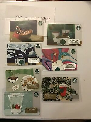 7 NEW STARBUCKS CUP GIFT CARDS LOT GREETING CARD No value