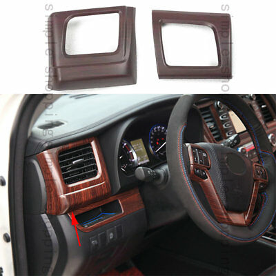 For Toyota Highlander 14 2015 Wood Grain Color Air Vent Outlet Cover Trim - 2PCS