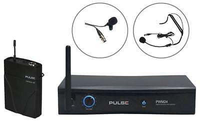 2.4Ghz Wireless Mic Lav And Headset - Pwm24-Lav-Hsm