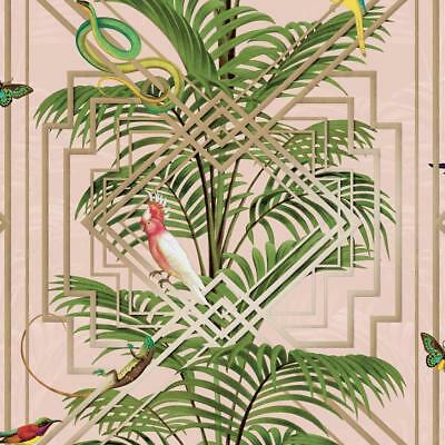 Holden Decor Congo Tropical Design Luxury Wallpaper Pink 90200