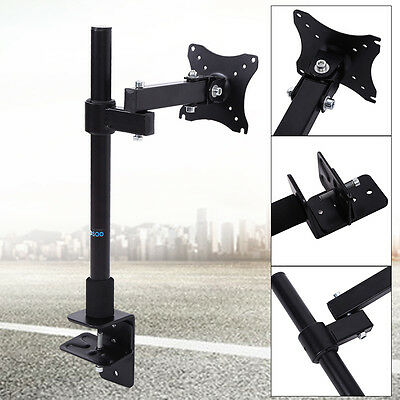 Single HD LED Desk Mount Monitor Arm Stand Display Bracket LCD Screen TV 13-27''