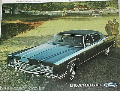 1970 LINCOLN CONTINENTAL advertisement, Ford Lincoln Continental hardtop