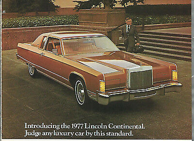 1977 LINCOLN Continental advertisement, Lincoln CONTINENTAL ad, long luxury car