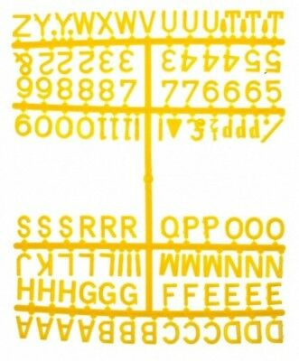 """1/2"""" Peg Board Letter Numbers Set 660 Characters 13Mm Yellow"""