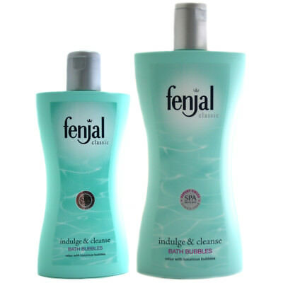 Fenjal Classic Indulge & Cleanse Bath Bubbles Choice of Size Bottles