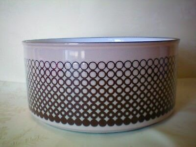 "Hornsea Coral Large 7 5/8"" dia Fruit Salad Serving Bowl Very Good Condition"