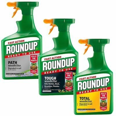 1.2L Roundup Fast Action Weedkiller Spray Ready to Use Garden Weed Root Killer