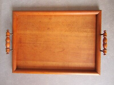 altes Tablett Servierplatte Anbietplatte Teak Holz Art Deco