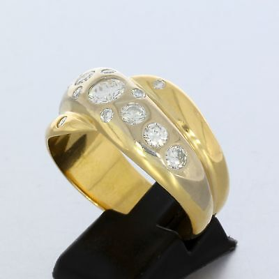 Wert 7.950,- Herren Ring 1,50 Carat Brillanten In 750 / 18 Kt Gold Gr 72 Sale