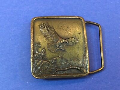 Vintage 1977 Indiana Metal Craft  Bald Eagle  Belt Buckle