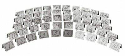 Stainless Steel Table Numbers Set Restaurants Pubs Cafe