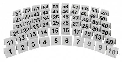 White Plastic Table Numbers Set Restaurants Pubs Cafe Tabletop