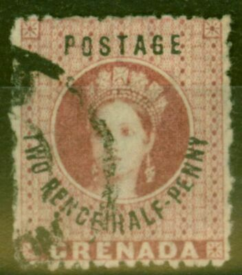 Grenada 1881 2 1/2d Rose-Lake SG22c No Stop Fine Used
