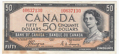 1954 Bank of Canada $50 Devil's Face Coyne - Towers Signatures