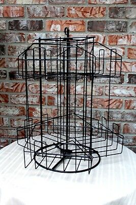 Vintage COUNTRY STORE COUNTER TOP ROTATING DISPLAY RACK MAPS ?