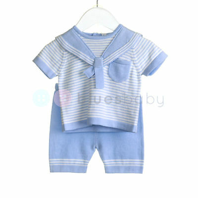 Zip Zap Baby Boys Romany Spanish Style Knitted Sailor Top & Shorts Outfit SS'18