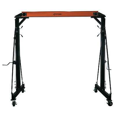 Titan Adjustable Telescoping Gantry Crane - 4000 lb Capacity - 2 Ton
